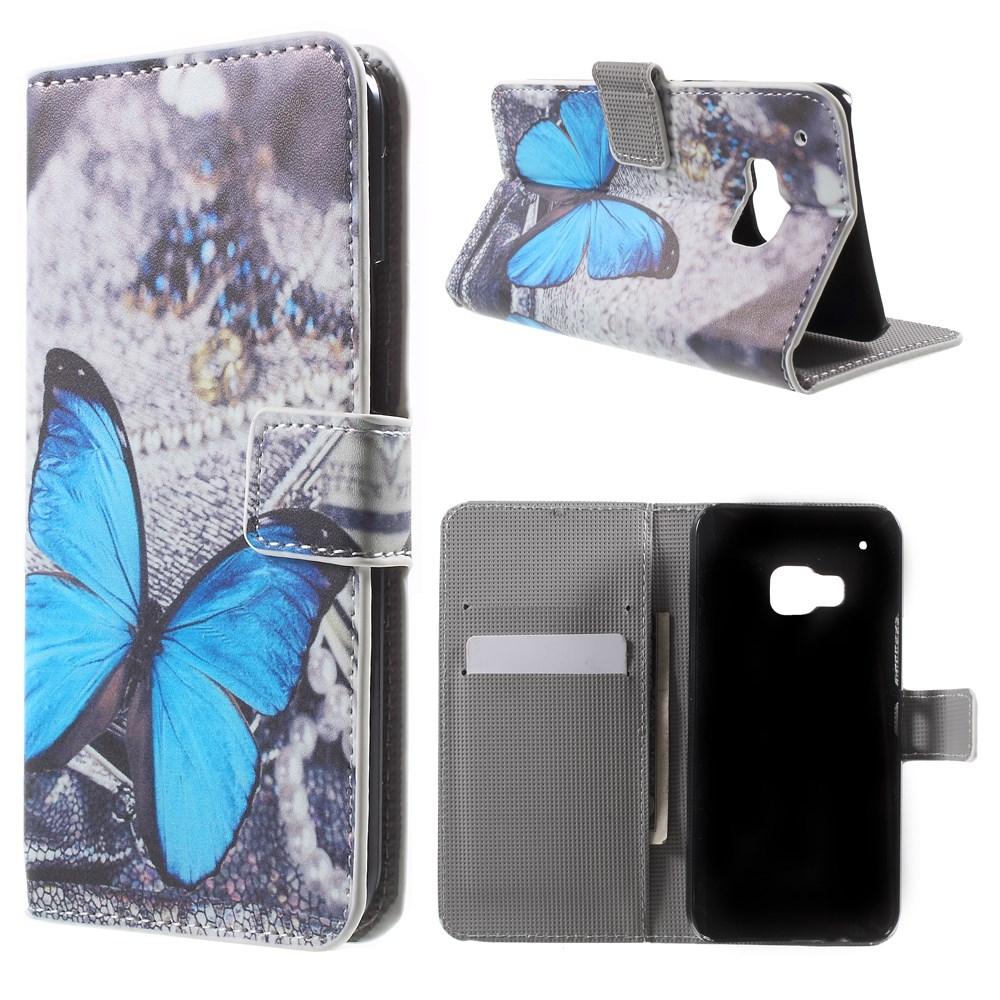 Billede af HTC One M9 Flip Cover m. Stand - Blue Butterfly Design