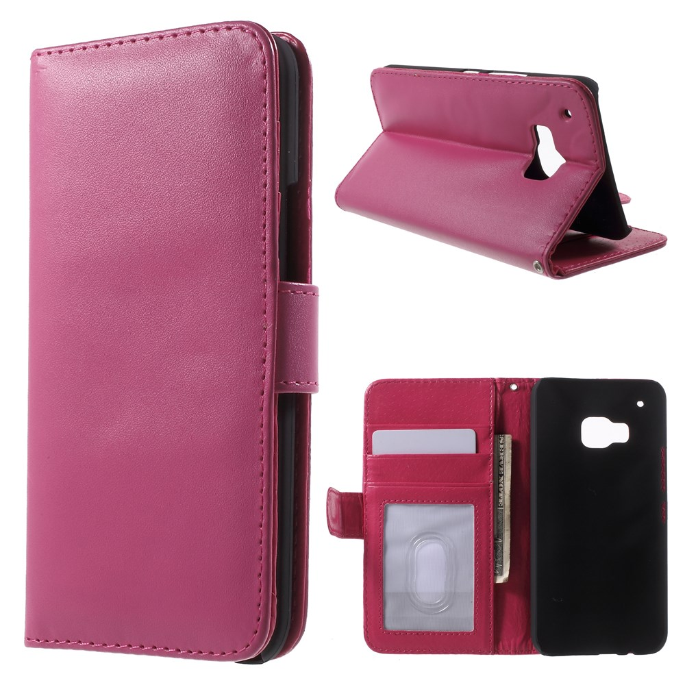 Billede af HTC One M9 Læder Flip Cover m. Stand - Pink