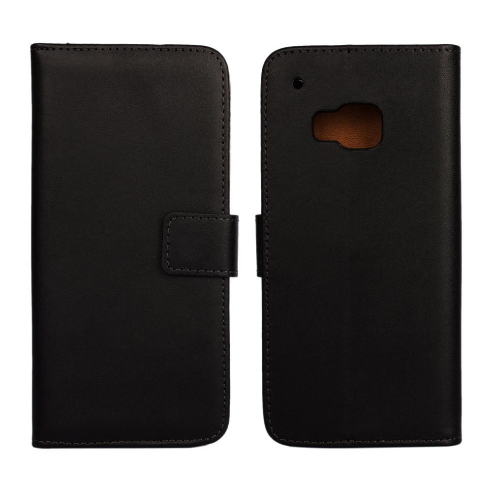 Billede af HTC One M9 Flip Cover m. Stand i Ægte Læder - Sort