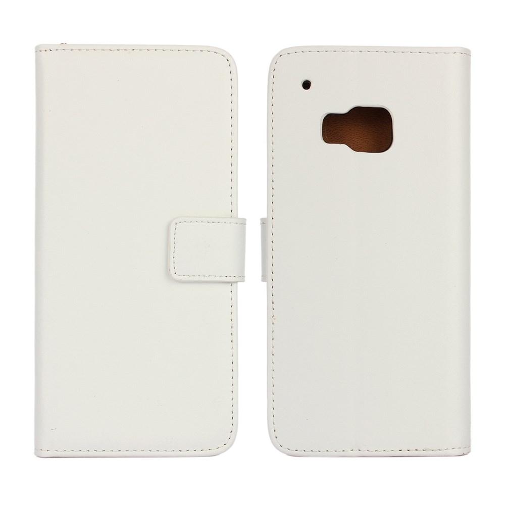 Billede af HTC One M9 Flip Cover m. Stand i Ægte Læder - Hvid
