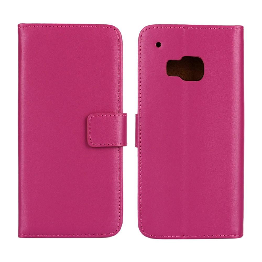 Billede af HTC One M9 Flip Cover m. Stand i Ægte Læder - Rosa