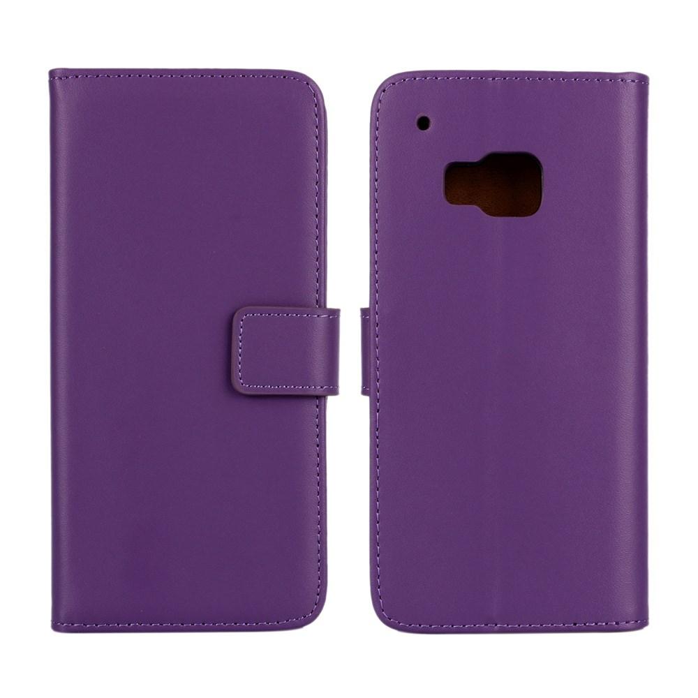 Billede af HTC One M9 Flip Cover m. Stand i Ægte Læder - Lilla