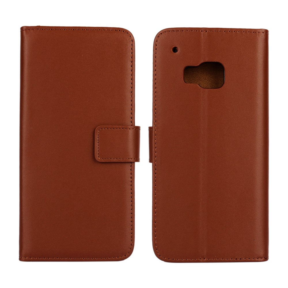 Billede af HTC One M9 Flip Cover m. Stand i Ægte Læder - Brun