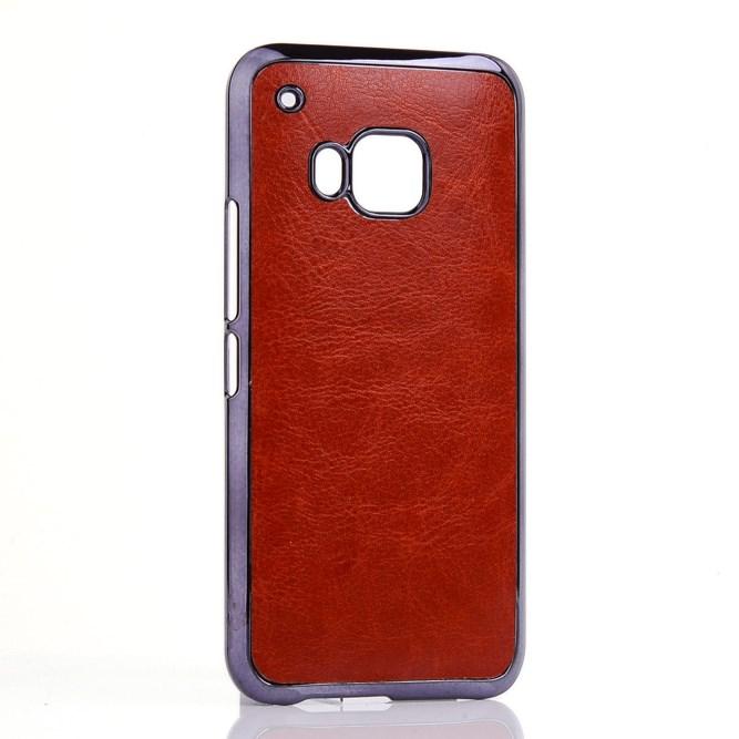 Billede af HTC One M9 Læderbeklædt Cover i Plastik - Brun