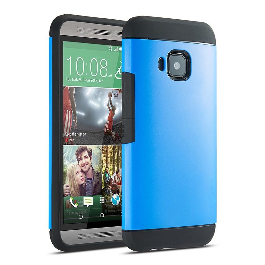 Billede af HTC One M9 Heavy Duty Armor Cover - Blå