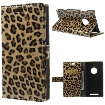 Image of Nokia Lumia 830 FlipCover Med Pung - Brown Leopard