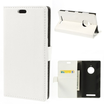 Image of Nokia Lumia 830 Deluxe FlipCover Med Pung - Hvid