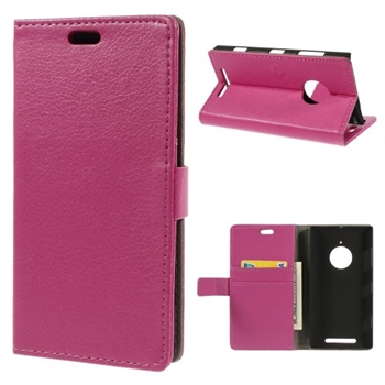 Image of Nokia Lumia 830 Deluxe FlipCover Med Pung - Rosa