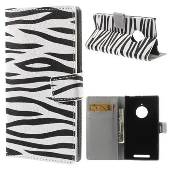 Nokia Lumia 830 FlipCover Med Pung - Zebra