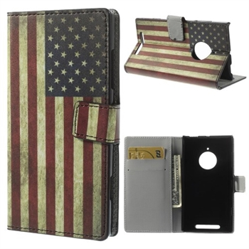 Image of Nokia Lumia 830 FlipCover Med Pung - Stars & Stripes