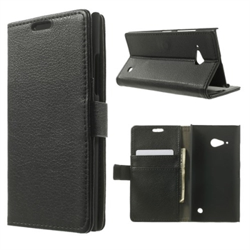 Image of Nokia Lumia 735 Deluxe FlipCover Med Pung - Sort