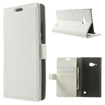 Image of Nokia Lumia 735 Deluxe FlipCover Med Pung - Hvid