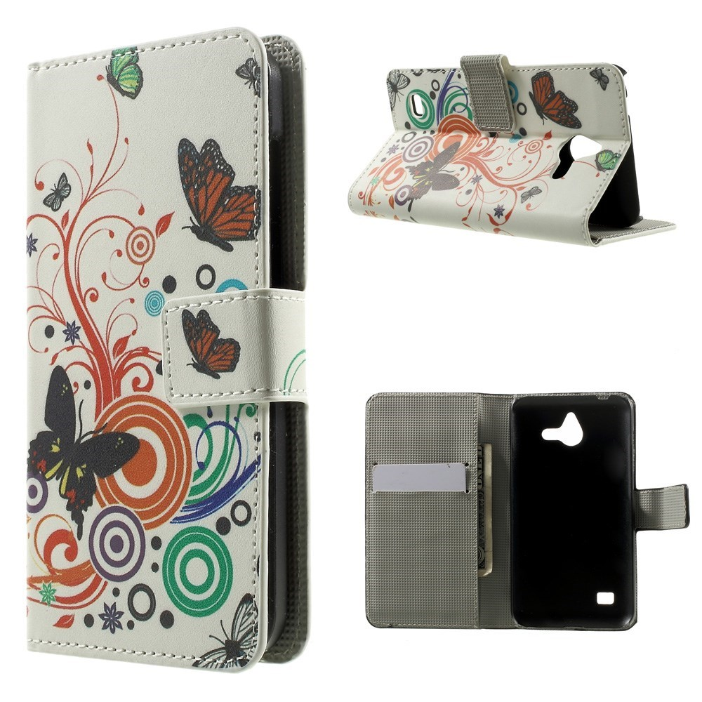Image of Huawei Ascend Y550 Smart Flip Cover m. Stand - Butterflyt Circles