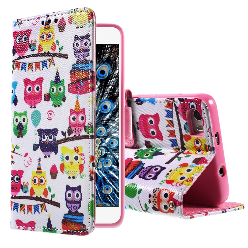 Billede af Huawei Honor 6 Smart Design Flip Cover - Owls