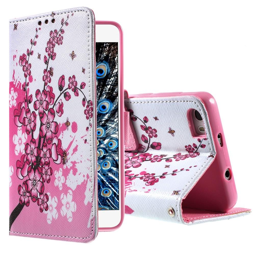 Image of   Huawei Honor 6 Smart Design Flip Cover - Plum Blossom