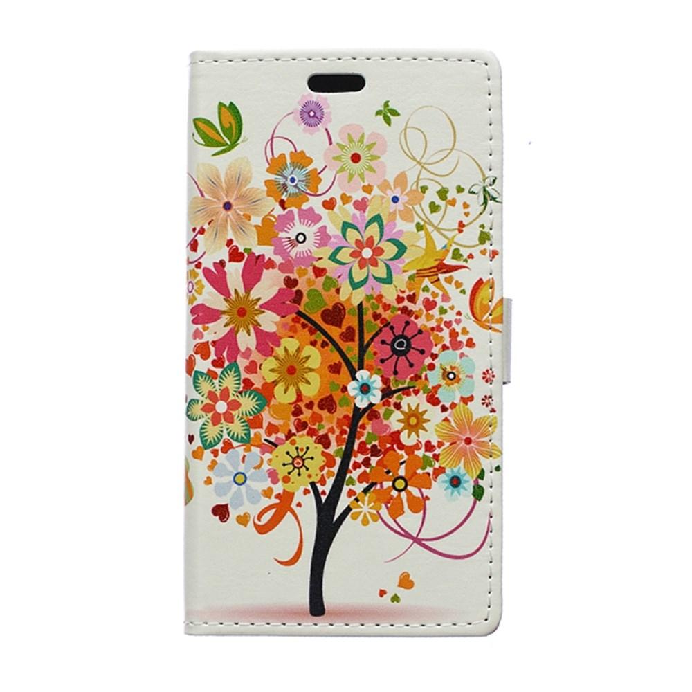 Billede af Huawei Ascend P8 Lite Flip Cover m. Stand - Orange Tree