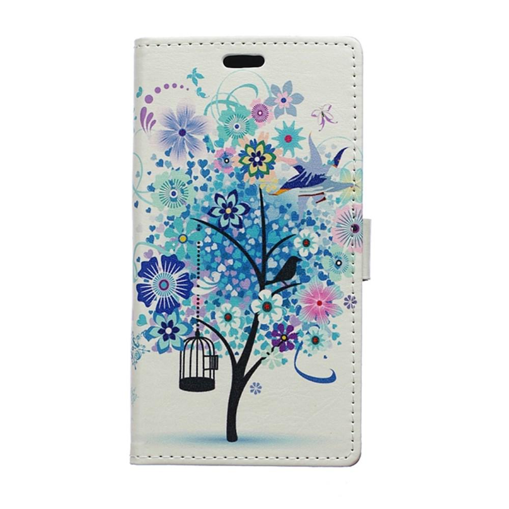 Billede af Huawei Ascend P8 Lite Flip Cover m. Stand - Blue Tree