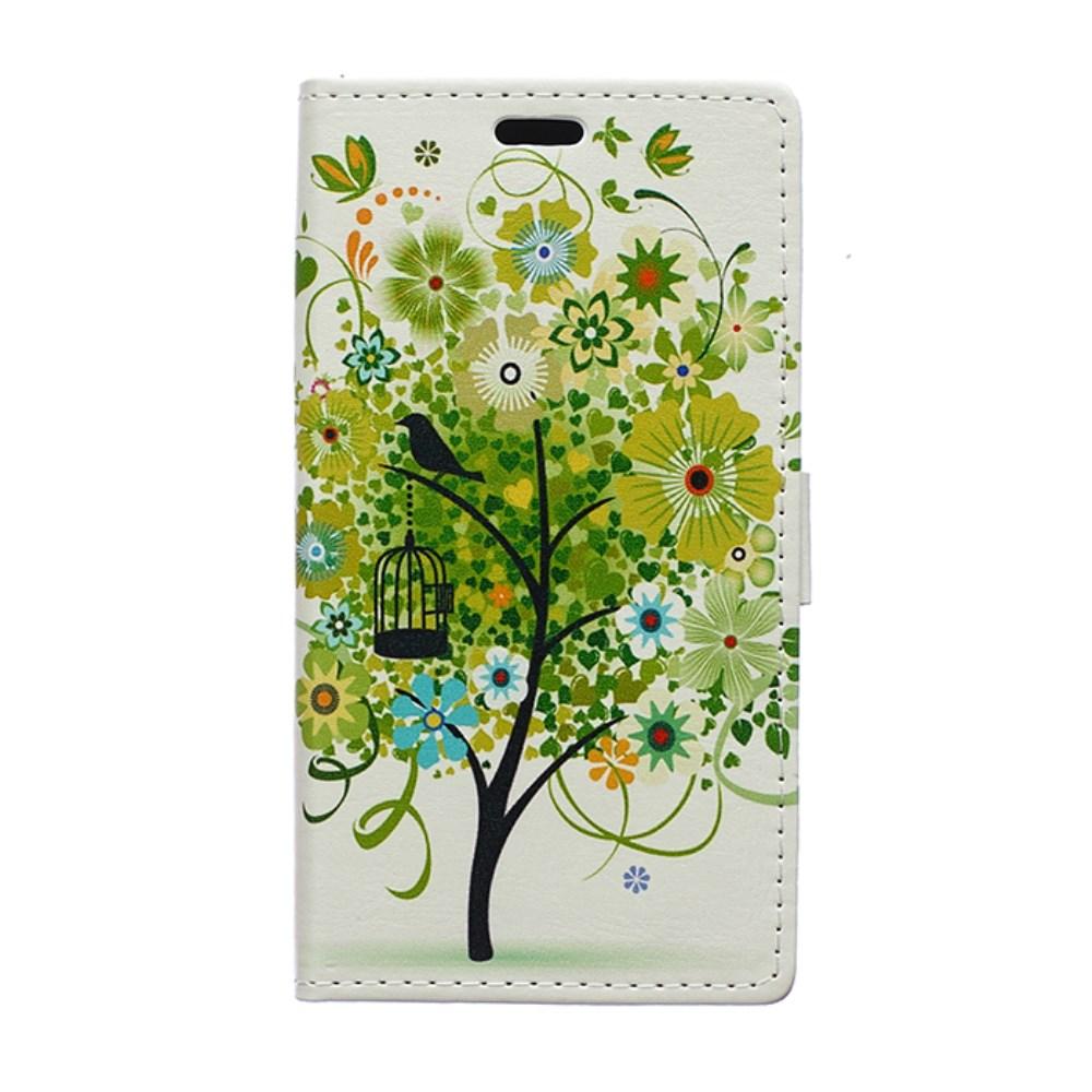 Billede af Huawei Ascend P8 Lite Flip Cover m. Stand - Green Tree