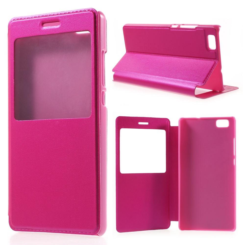 Billede af Huawei Ascend P8 Lite Smart Flip Cover m. Vindue - Pink