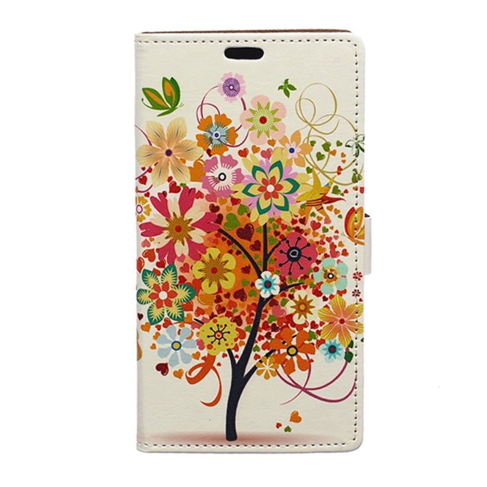 Image of Huawei Y5 Design Flip Cover m. Stand - Flower Tree