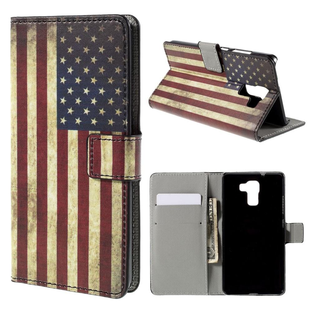 Billede af Huawei Honor 7 Design Flip Cover m. Stand - Stars & Stripes