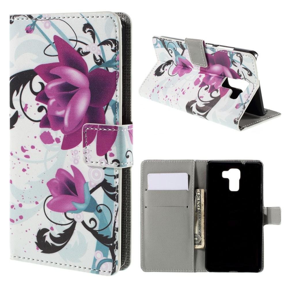 Billede af Huawei Honor 7 Design Flip Cover m. Stand - Kapok Flowers