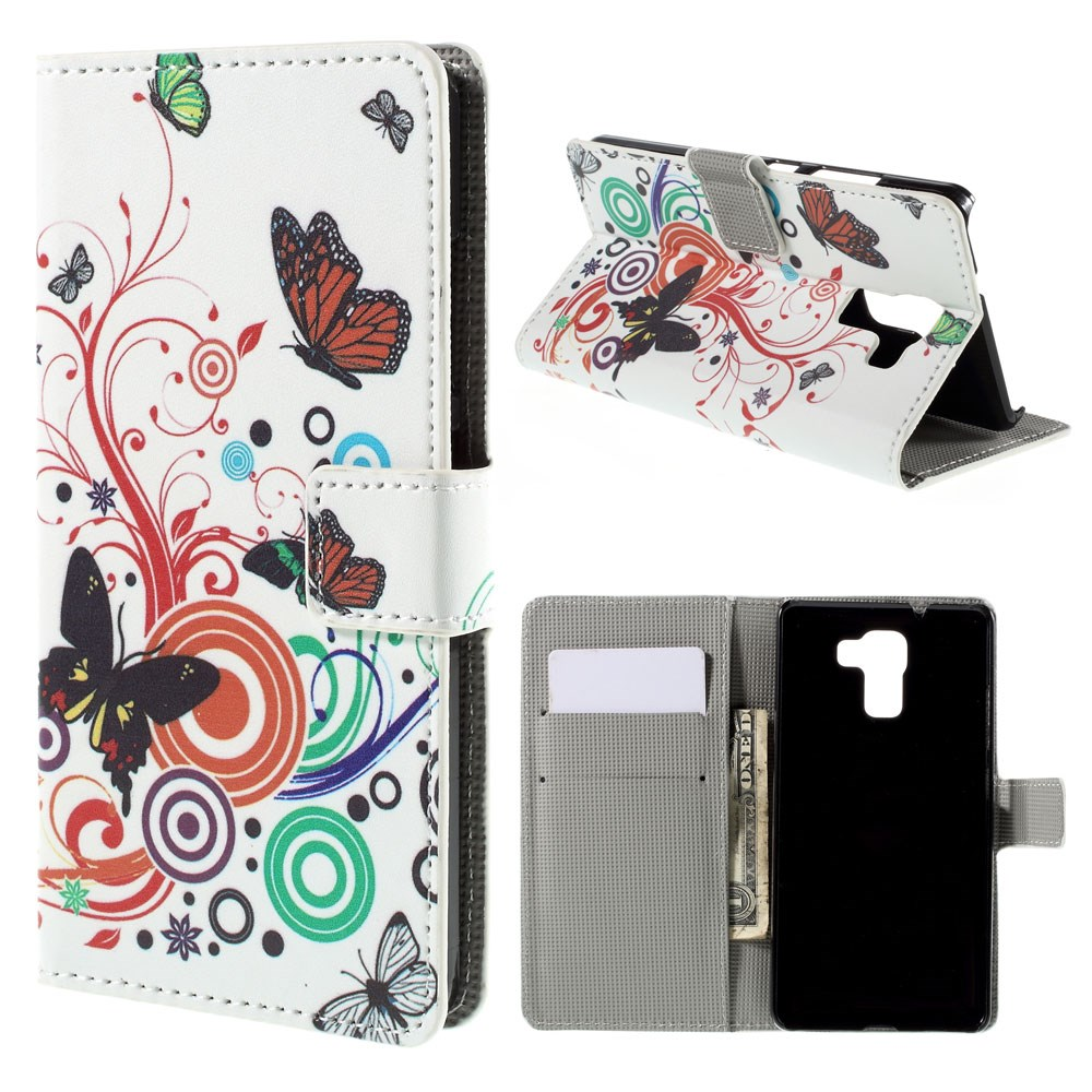 Billede af Huawei Honor 7 Design Flip Cover m. Stand - Butterfly Circles