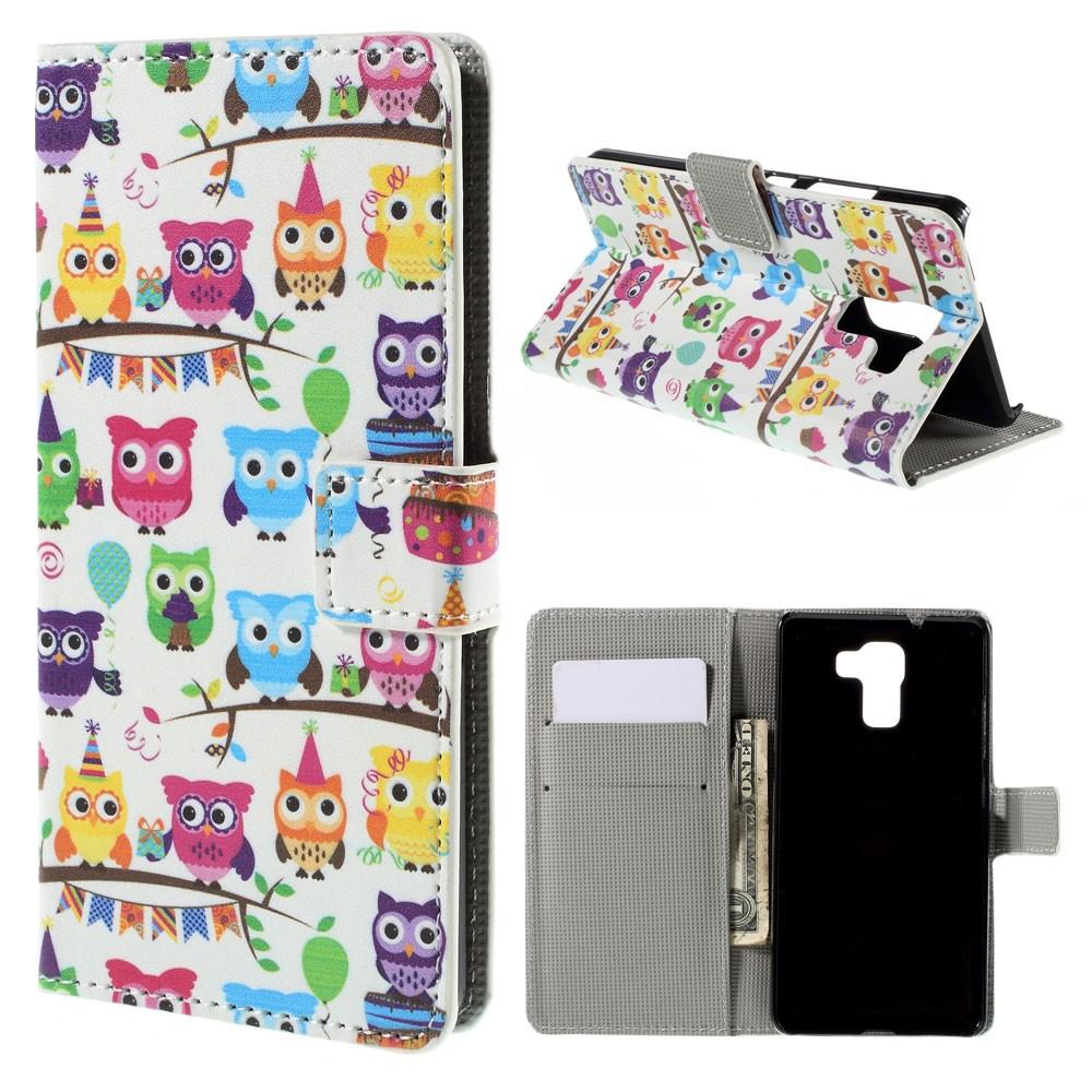 Billede af Huawei Honor 7 Design Flip Cover m. Stand - Owls