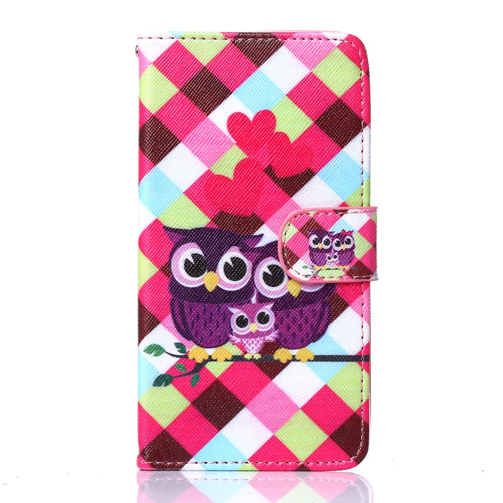 Image of Huawei Ascend P8 Lite Design Flip Cover m. Stand - Owls