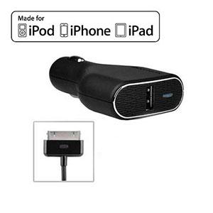 Billader med USB stik og kabel fra PureGear - sort