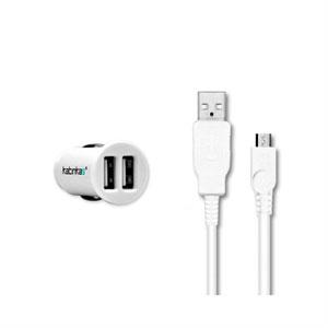 Billader med USB stik til Micro USB stik fra Katinkas - hvid