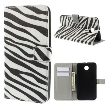Billede af Nexus 6 Design Flip Cover Med Pung - Zebra