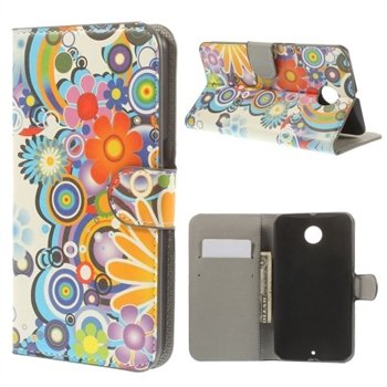 Image of   Nexus 6 Design Flip Cover Med Pung - Flower Power