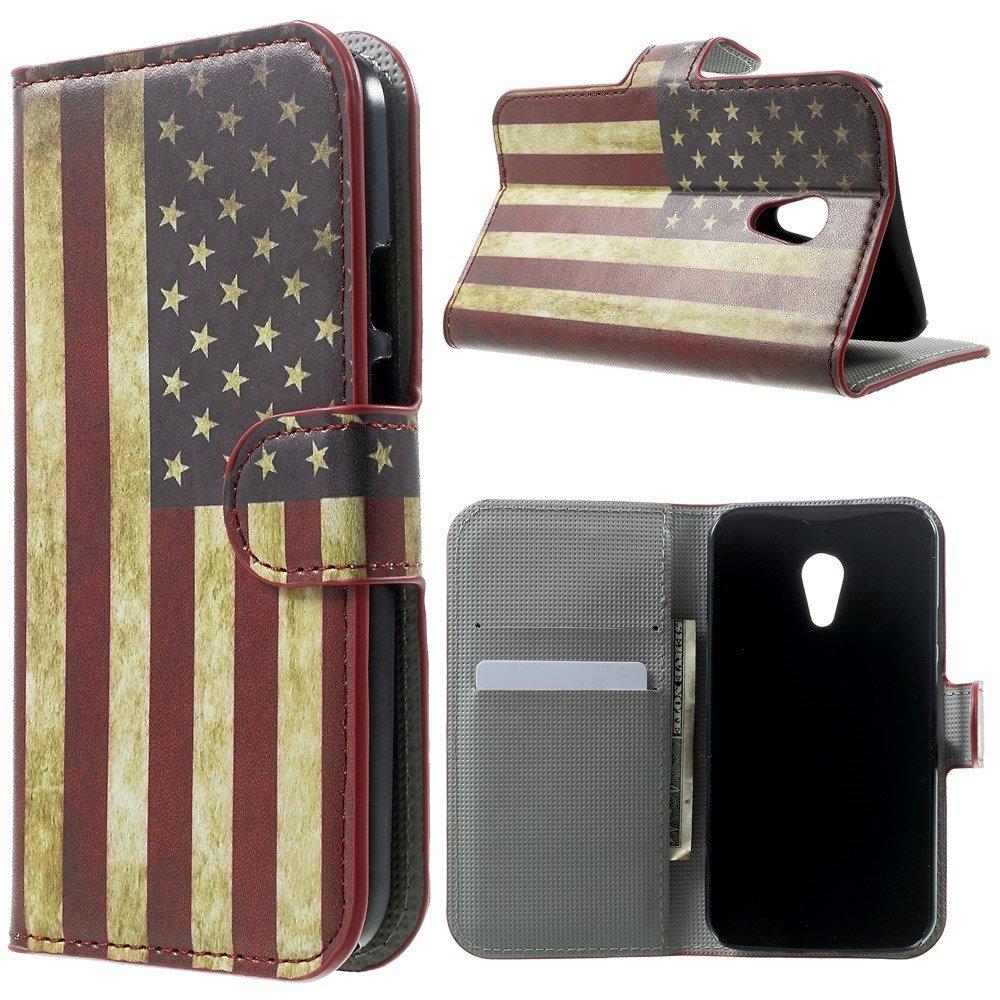 Billede af Motorola Moto G2 Design Flip Cover m. Stand - Stars & Stripes