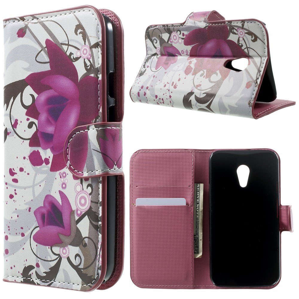 Billede af Motorola Moto G2 Design Flip Cover m. Stand - Lotus Flower