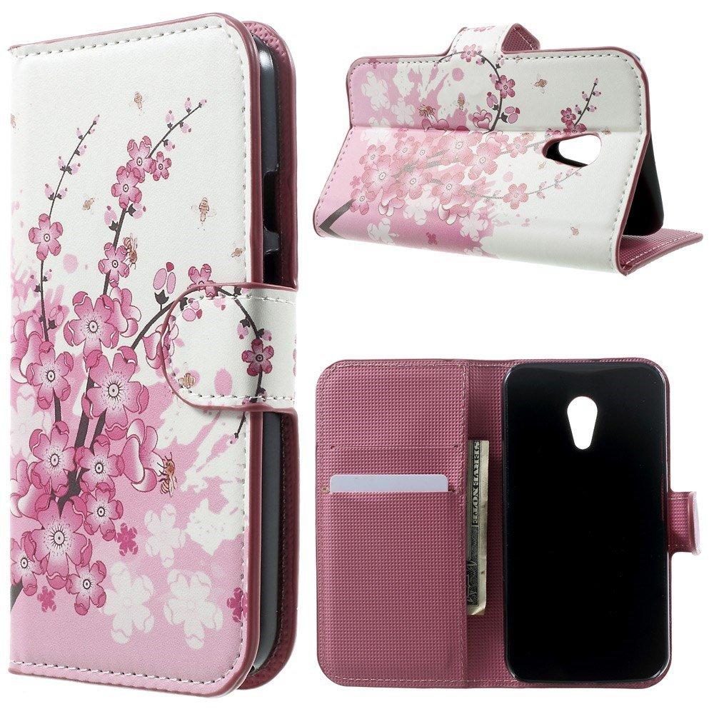 Billede af Motorola Moto G2 Design Flip Cover m. Stand - Plum Blossom