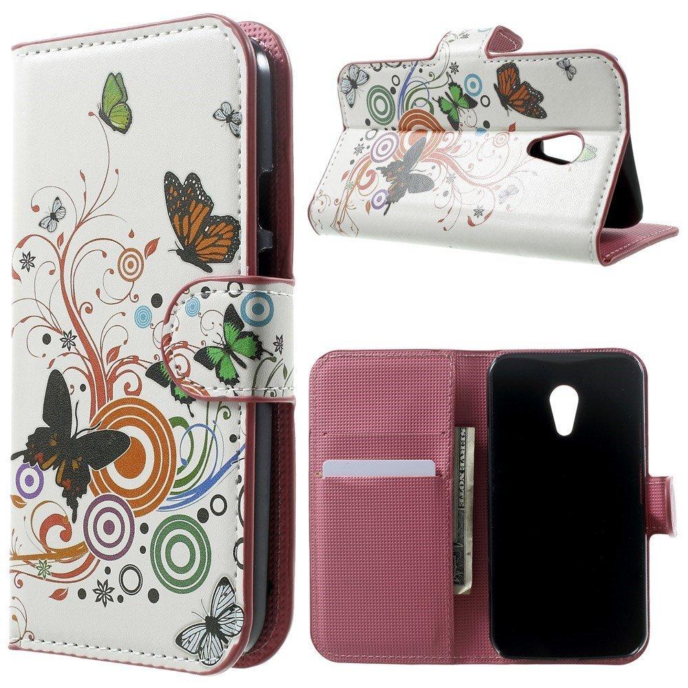 Billede af Motorola Moto G2 Design Flip Cover m. Stand - Butterfly