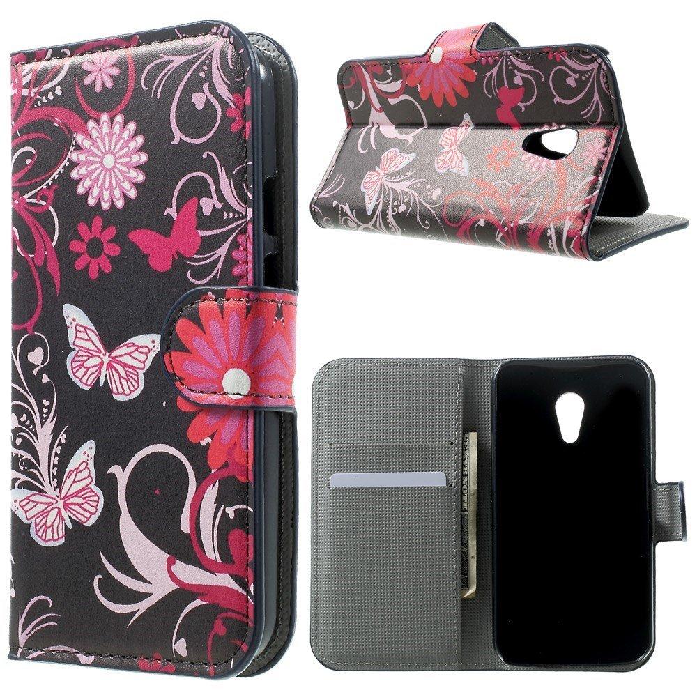 Billede af Motorola Moto G2 Design Flip Cover m. Stand - Black Butterfly