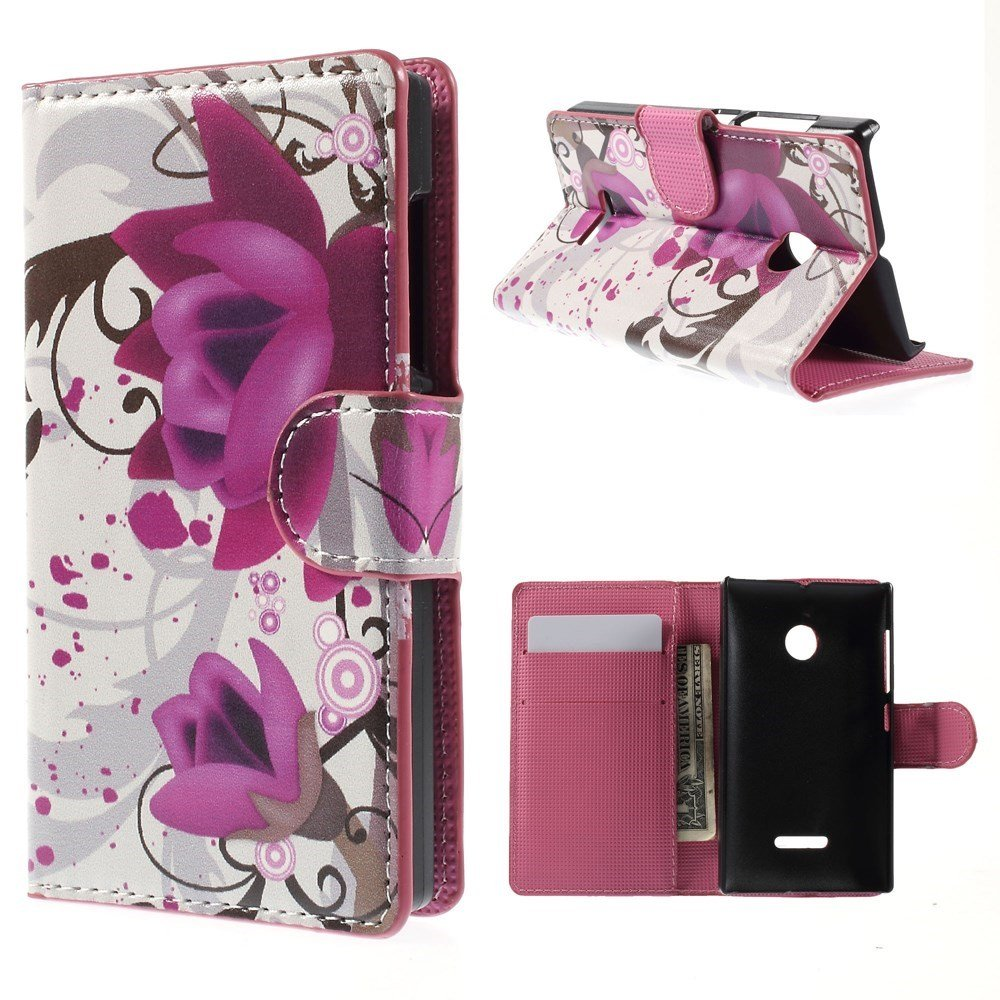 Image of Microsoft Lumia 532 Design Flip Cover - Lotus Blossom