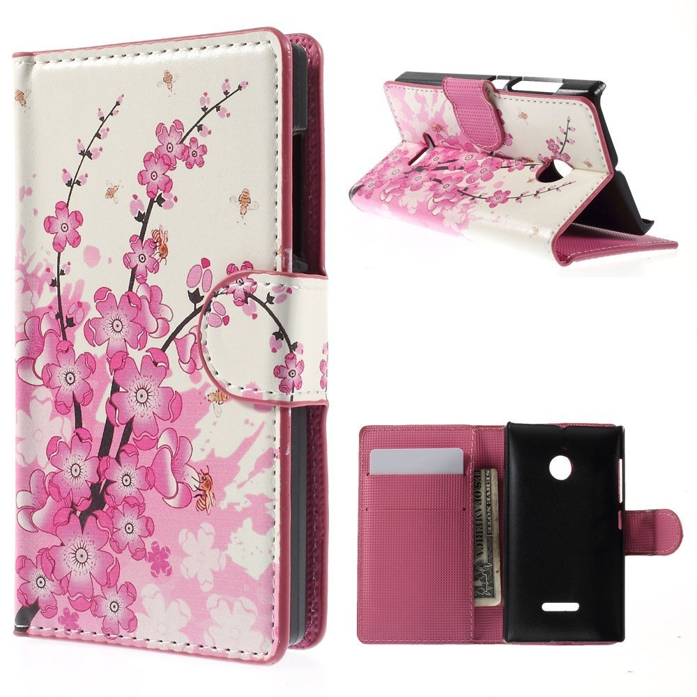 Image of Microsoft Lumia 532 Design Flip Cover - Plum Blossom