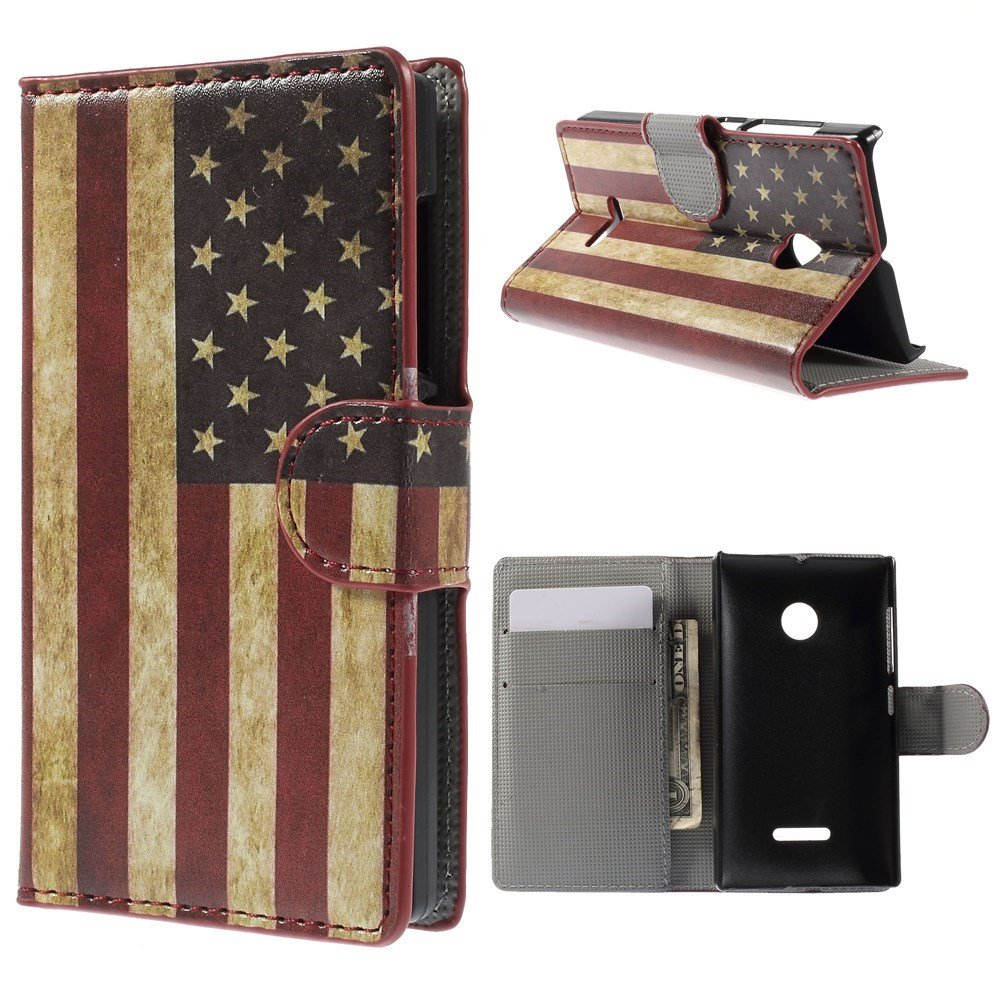 Image of Microsoft Lumia 532 Design Flip Cover - Stars & Stripes