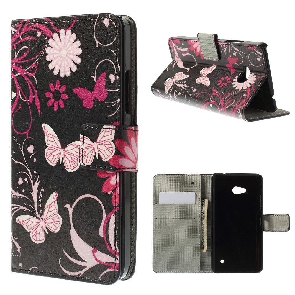 Image of Microsoft Lumia 640 Flip Cover m. Stand - Butterflies