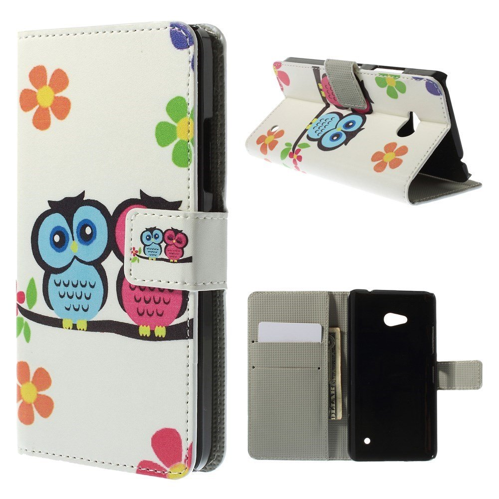 Image of Microsoft Lumia 640 Flip Cover m. Stand - Two Owls