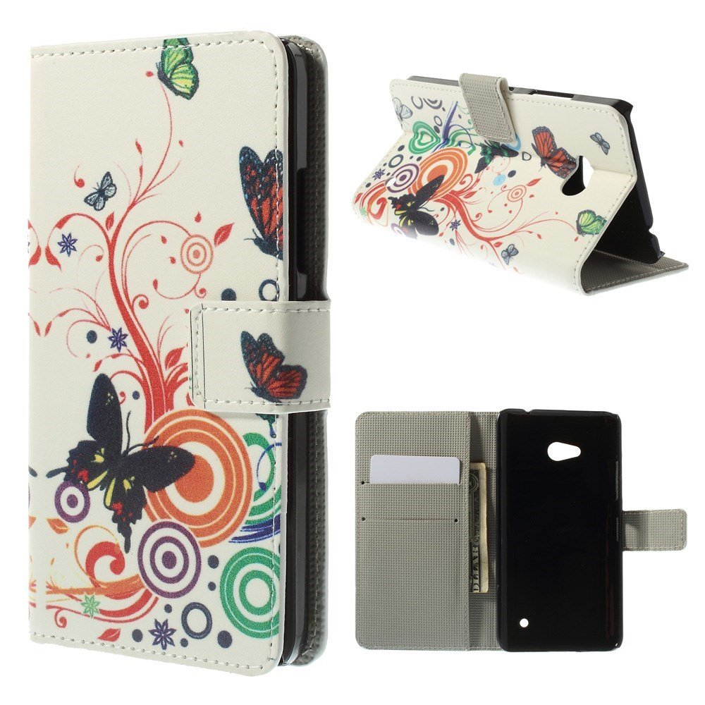 Image of Microsoft Lumia 640 Flip Cover m. Stand - Butterfly Circles