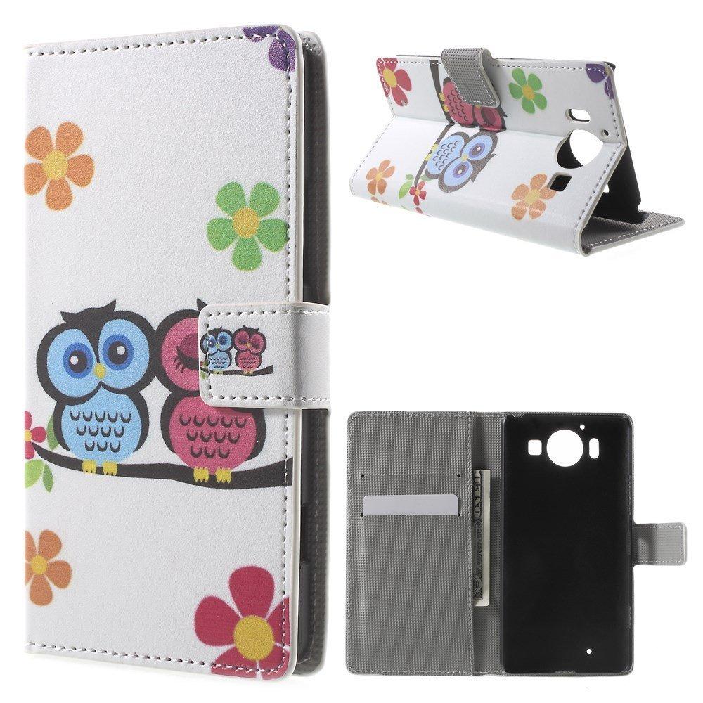 Image of Microsoft Lumia 950 inCover Design Flip Cover m. Stand - Owl Couple