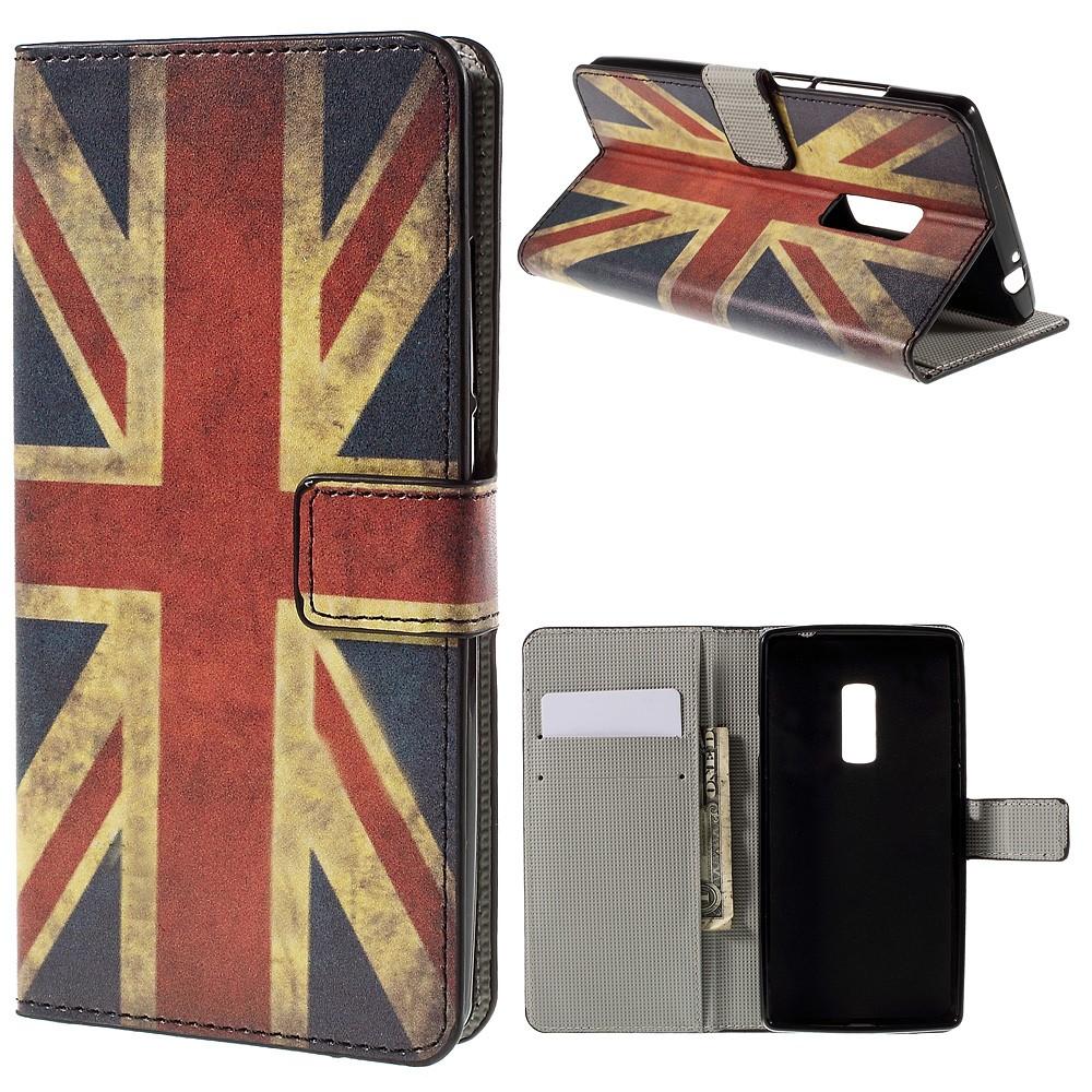 OnePlus 2 Design Flip Cover Med Pung - Vintage UK Flag