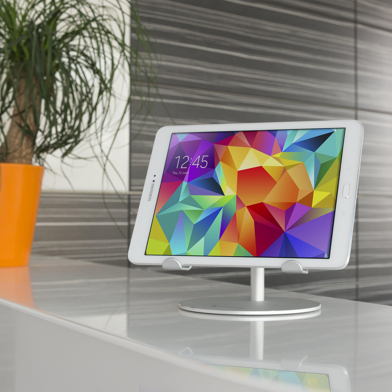 Image of   4smarts A-Wing Tablet Holder m. Integreret Smartwatch Holder - Silver