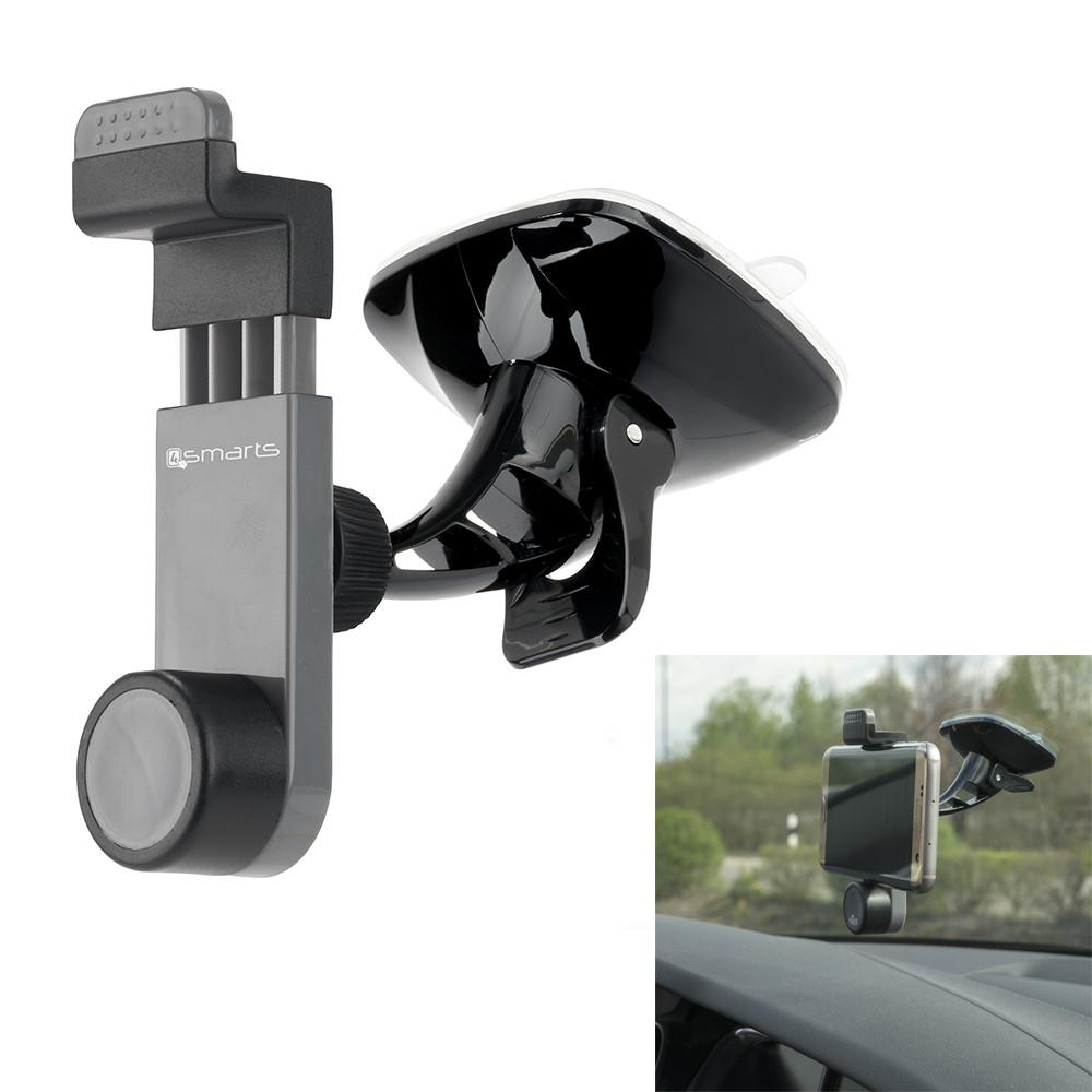Image of   4smarts Universal Car Grip Holder - Bilholder m. Sugekop Grå/Sort
