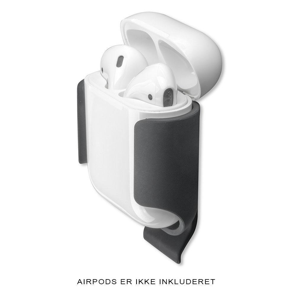 Image of   4smarts Basic Belt Clip for Apple AirPods Mat Sort