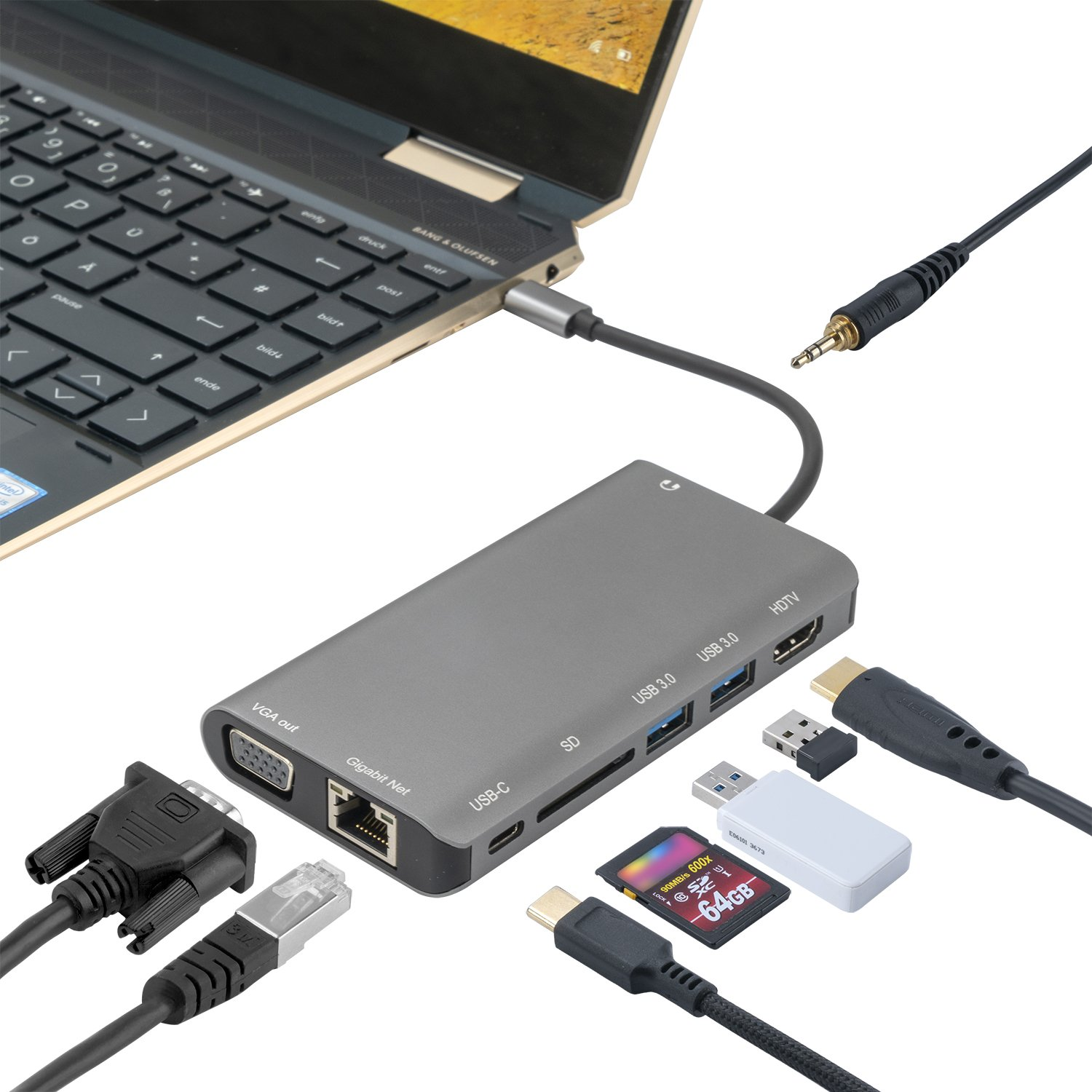 Image of   4smarts 8in1 USB-C Hub - Space Grey